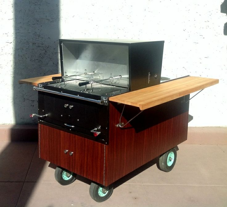 "Kitchen Bar With Stove: 1956 General Electric"" Partio Cart"" Kitchen/BBQ Cart"