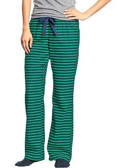 Womens Printed Flannel PJ Pants- any pj's from Old Navy are fun!