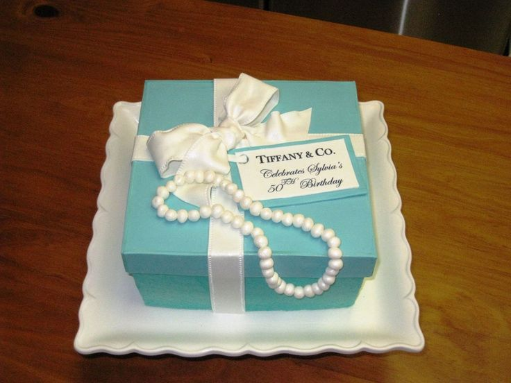 Tiffany Box Cake | Tiffany Birthday cake Box — Blue