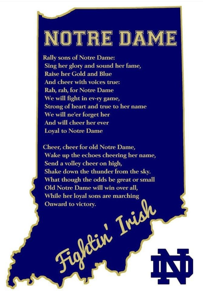 Cheer Cheer Cheer for ole Notre Dame!!