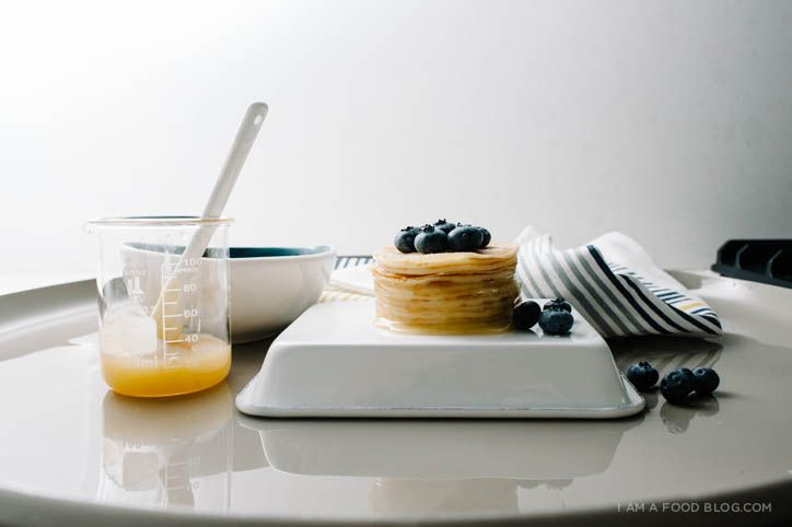 Blueberry Lemon Mini Crêpe Cake Recipe with Enamelware from west elm