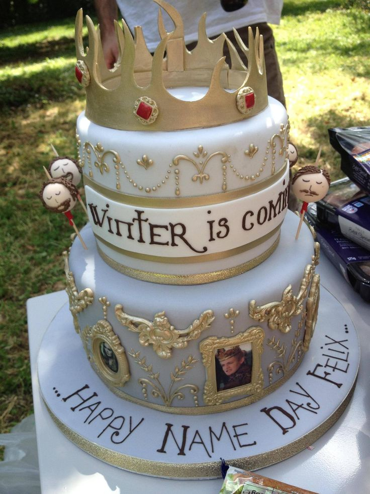 2015 Game of Thrones Season 5 quotes cake with iron throne and  crown for birthday party - Cersei Lannister, Joffrey Baratheon