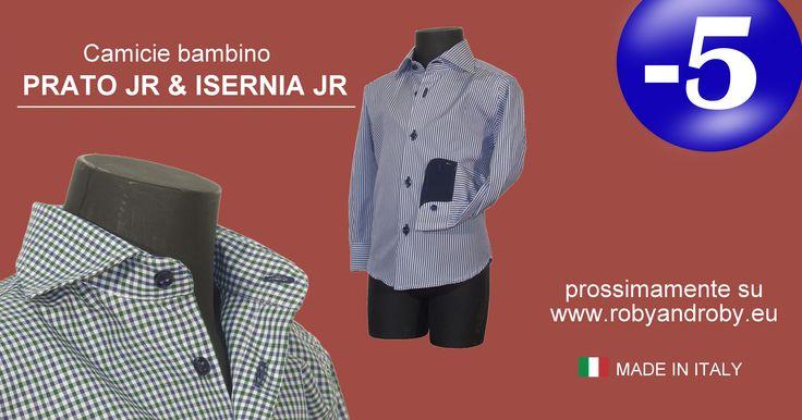 Camicie bambino PRATO JR & ISERNIA JR prossimamente su www.robyandroby.eu