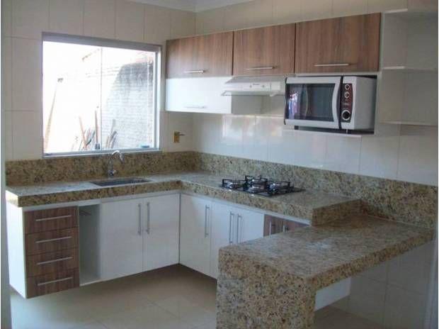 cozinha pequena planejada - armário de canto - decor
