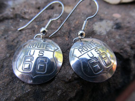 Route 66 Earrings Cars Movie Collectors Original by FayWestDesigns, $21.00