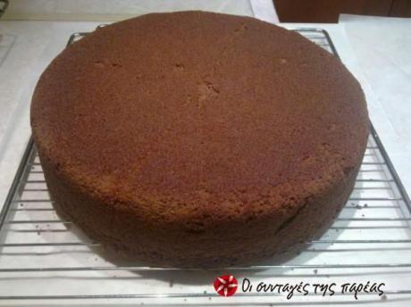 Κέικ το οποίο χρησιμοποιώ στις τούρτες αντί για παντεσπάνι.