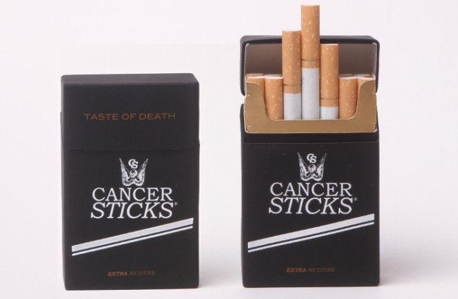 La caixa de cigarros més honesta del món.