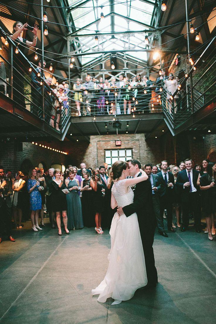 Modern New York Wedding at The Foundry Read more - http://www.stylemepretty.com/2014/02/24/modern-new-york-wedding-at-the-foundry/
