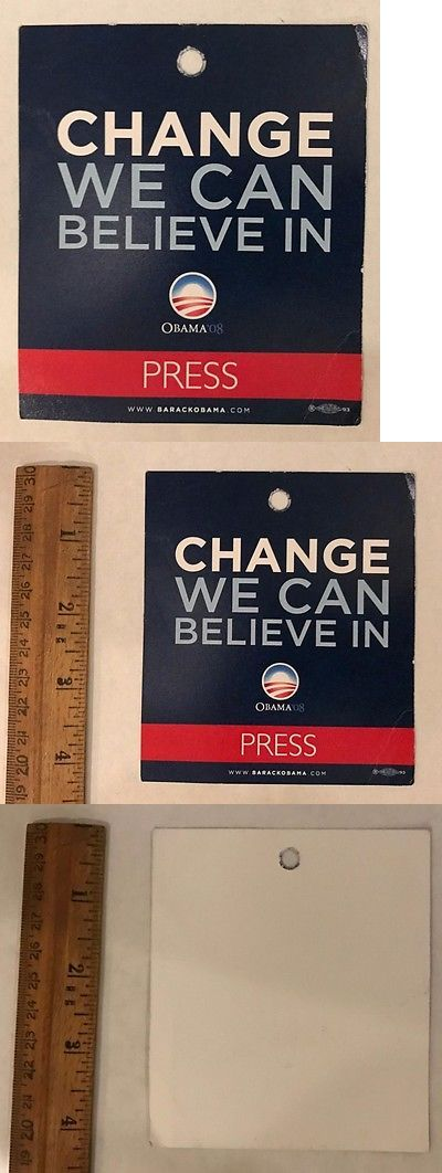Barack Obama: Rare President Barack Obama 2008 Campaign Press Pass Change We Can Believe In -> BUY IT NOW ONLY: $24 on eBay!
