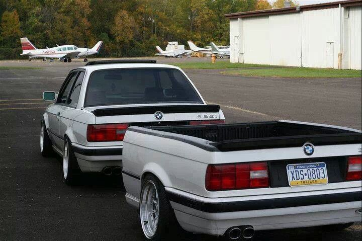 Would be funny seeing my babe with this on his e30 haha