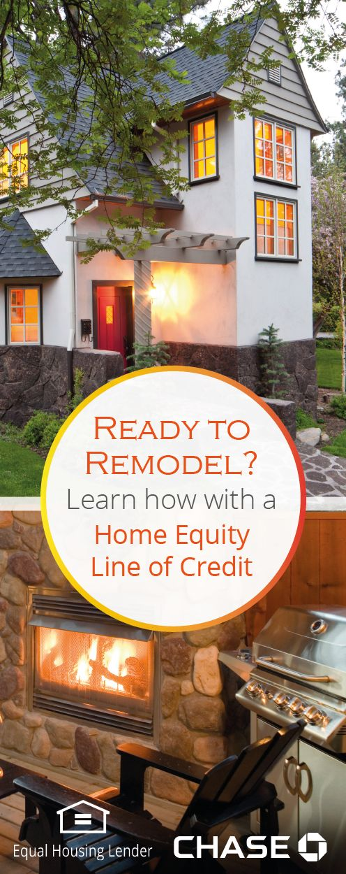 Does your house need a refresh? Whether it's simply adding some color or creating a fun outdoor living space, figure out your budget and learn how a Chase Home Equity Line of Credit can help fund your remodeling project.