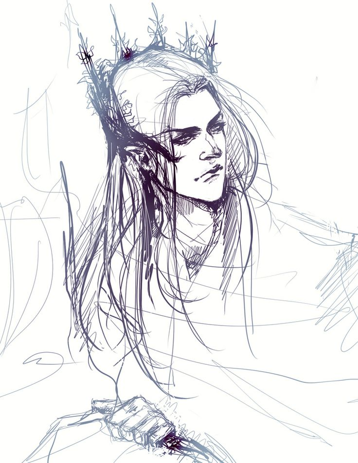 trying a new style, king elf sketch
