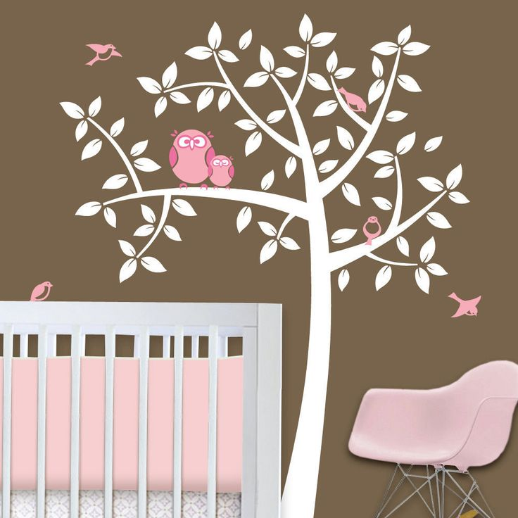 Owl Tree - Girl Baby Owl Nursery Theme -