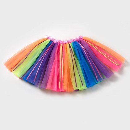 Brighten things up with a neon Rainbow Ribbons Tutu