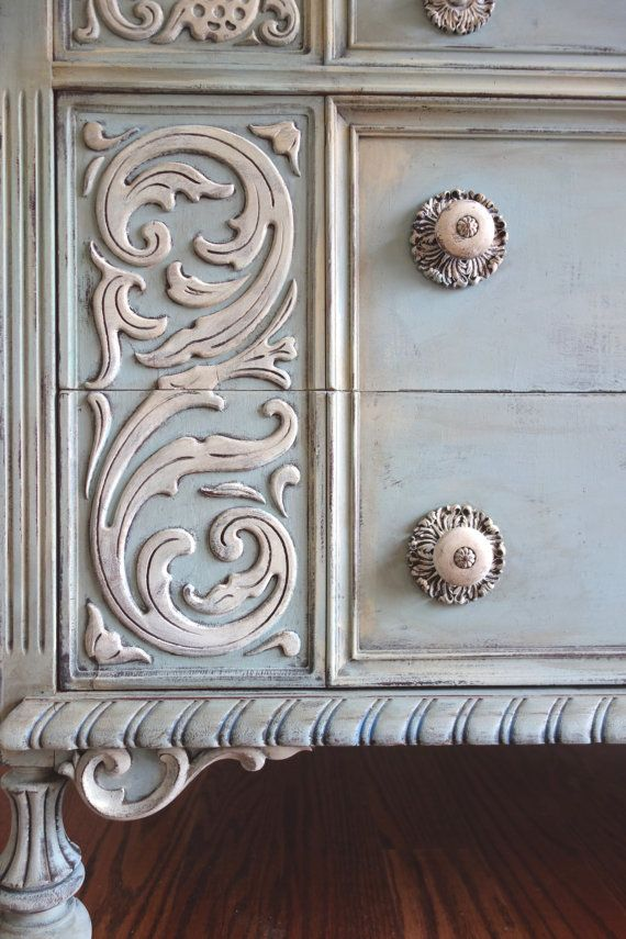 RESERVED for Brit - Antique Ornately Carved Jacobean Hand ...