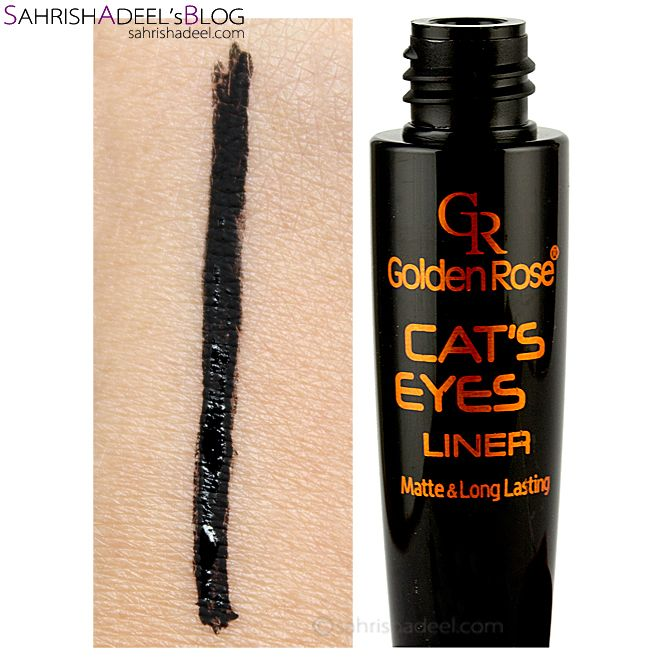 Cat's Eyes Liner by Golden Rose Cosmetics - Review