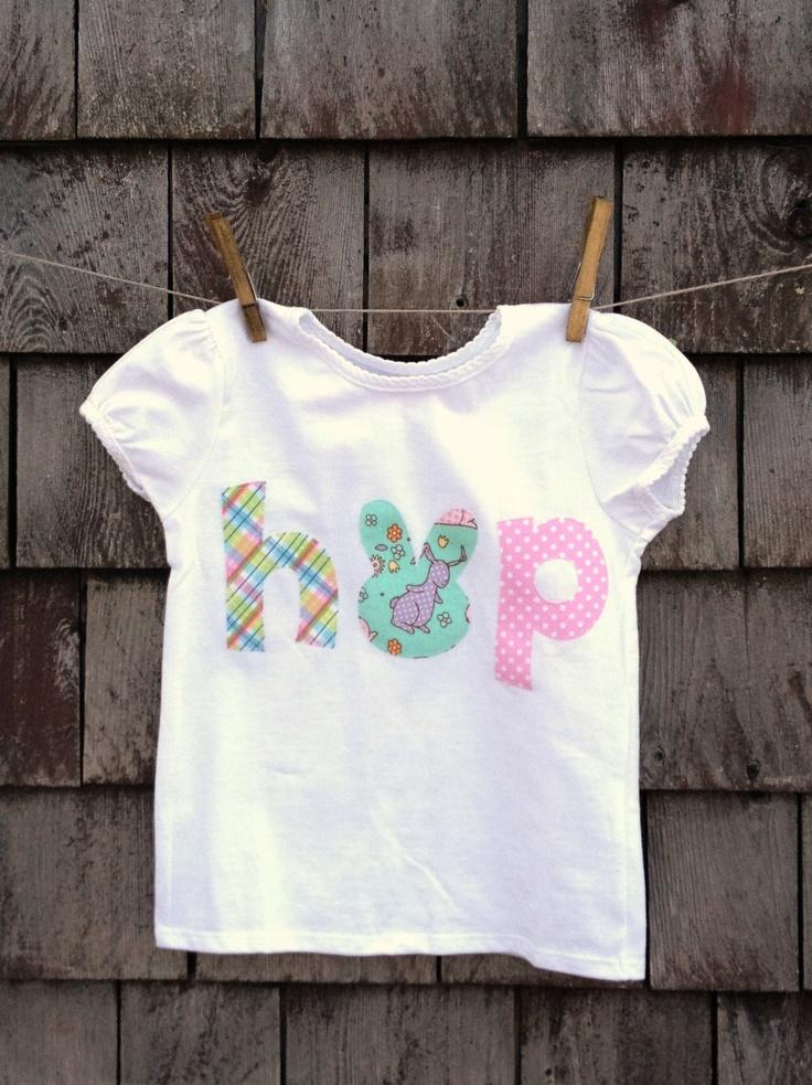 Girls Hop Easter Shirt Kids Children 12m 2T 3T 4T 5T Easter Bunny Rabbit. $15.00, via Etsy.