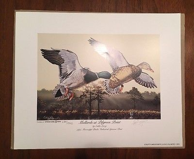 Eddie Le Roy Print Signed North Mississippi Ducks Unlimited 622/1800  | eBay