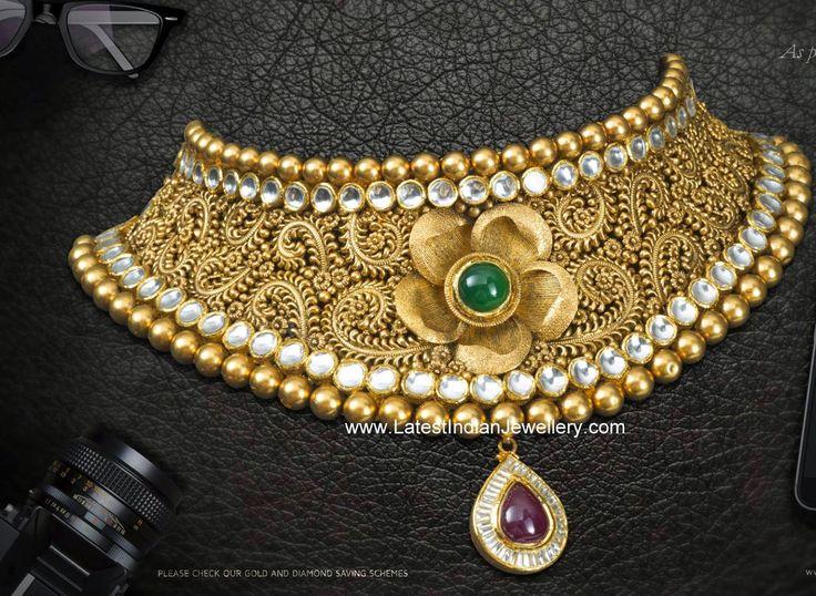 Antique Gold Bridal Choker