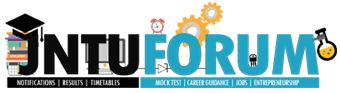 Jawaharlal Nehru Technological University Forum is a place for all latest information about JNTU World, here you can avail JNTU News, JNTU Updates, JNTU Notification and JNTU Results. In this Forum you can Join in discussion's and can clear all your doubts and share your opinions with Professors.