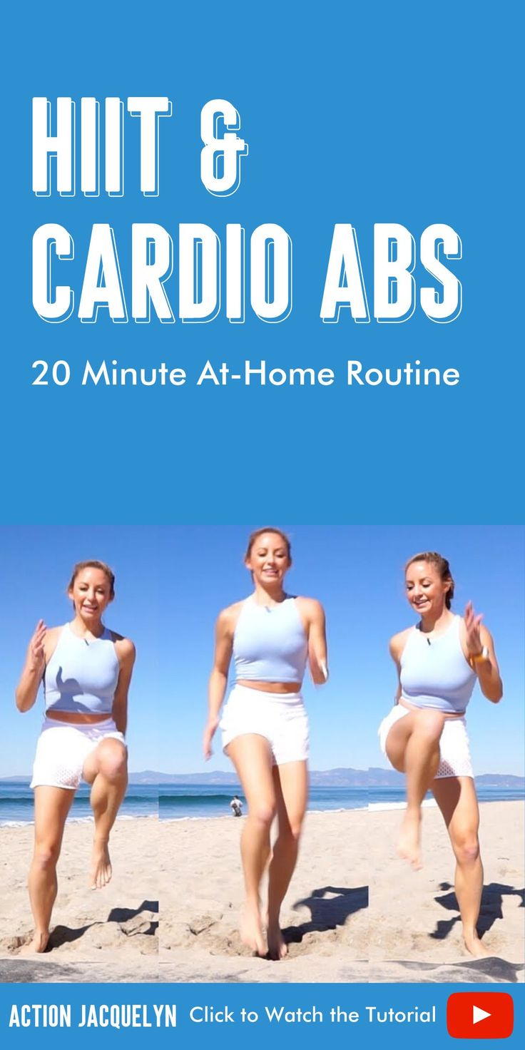Hiit cardio and abs workout 20 minute athome routine in