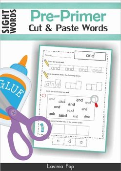 Pre-Primer Sight Words Worksheets & Activities SAMPLER