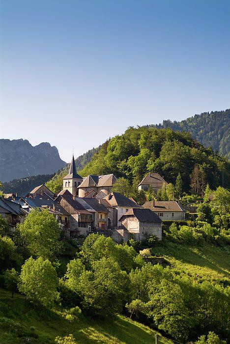 Bauges National Park, Savoie, France, Village of le Chatelard