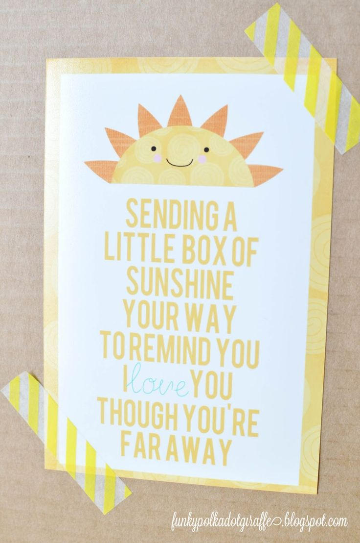 Funky Polkadot Giraffe: Box of Sunshine: Gift to Brighten a Day I will change it up for a Young Man