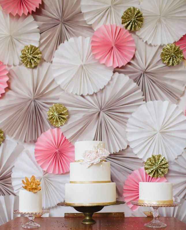 Dessert Backdrop: Maybe just as important as your photo booth backdrop, dessert backdrops have become essential. (via Every Last Detail)