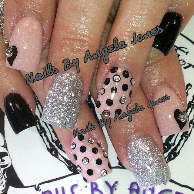 Acrylic nails by Angela Jones