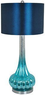Crestview Collection CVABS821 Peacock Blue Table Lamp 15 X 15 X 10 – PeazzLighting