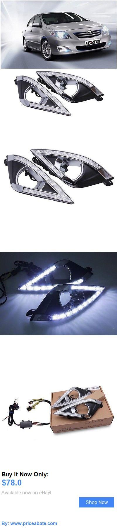 Motors Parts And Accessories: New Led Daytime Running Light Lamp Drl For Toyota Corolla Ex 2013 Fog Lights BUY IT NOW ONLY: $78.0 #priceabateMotorsPartsAndAccessories OR #priceabate