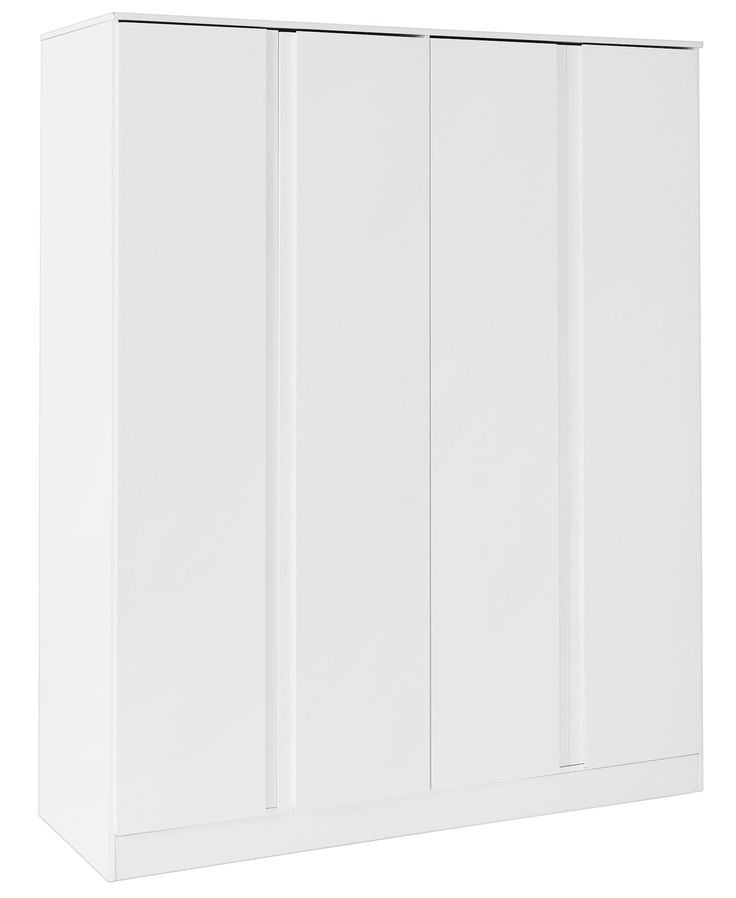 cool Hygena Larvik 4 Door Wardrobe - White Gloss Check more at http://hasiera.co.uk/s/bedroom/product/hygena-larvik-4-door-wardrobe-white-gloss/