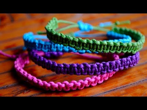 DIY Stackable Square Knot/Cobra Stitch Bracelets - Video tutorial