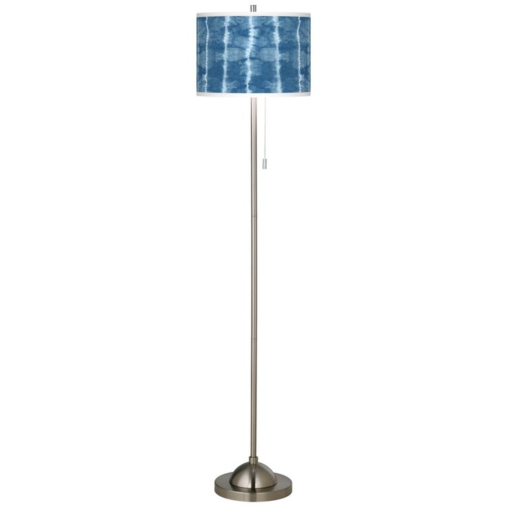 Cool Reflections Brushed Nickel Pull Chain Floor Lamp - Style # 99185-9P914