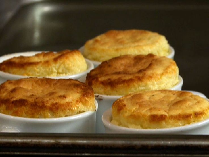 Warm Edam Cheese Souffle with Crispy Bacon recipe  via Food Network