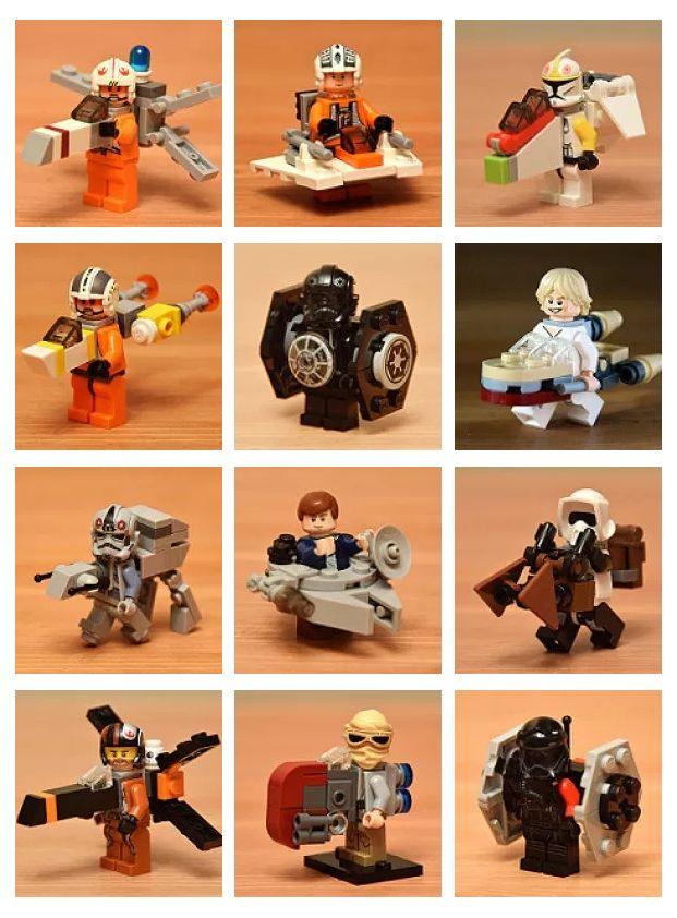 By Nick Chen #LEGO #starwars #xwing #snowspeeder #gunship #ywing #tiefighter #landspeeder #atat #milleniumfalcon #speederbike #poexwing #rayspeeder #firstordertiefighter