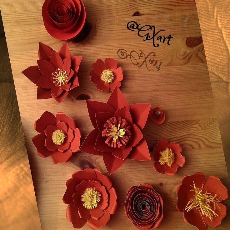 Paper Flowers #paperflowers #papirblomster
