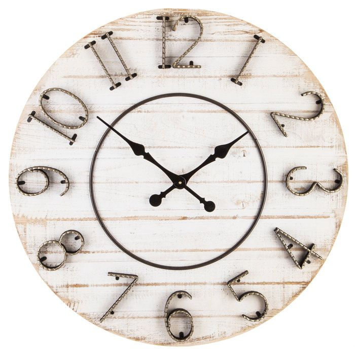 White Distressed Wood Wall Clock Hobby Lobby 1489541 In 2020