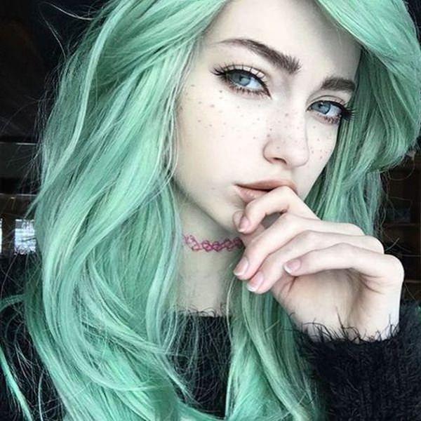 71 ideias de cores para cabelos verdes que você vai adorar
