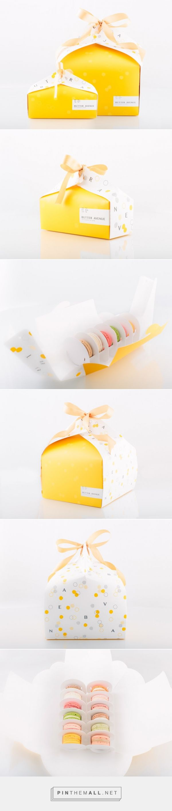 Butter Avenue Patisserie & #Cafe #packaging by Arc & Co. Design Collective - http://www.packagingoftheworld.com/2015/02/butter-avenue-patisserie-cafe.html