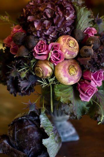 roses, beets, kale, grapes...fall