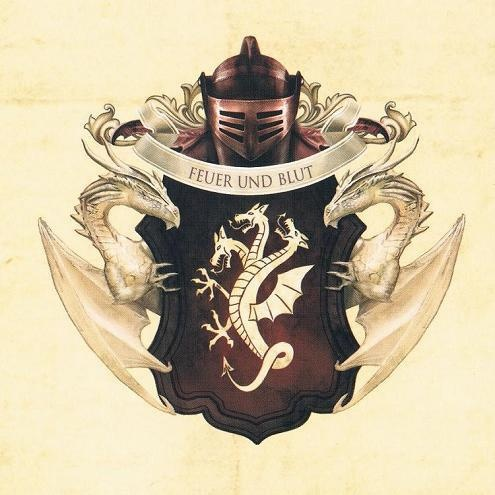 """Family Crest of House Targaryen. Motto """"Fire and Blood"""