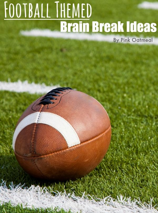 Ideas for football brain breaks and movement! A great way to get the kids moving with a football theme!