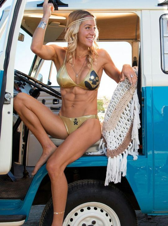 Vw Bus , Sexy Girl With An Old Vw Van  Vw Beetle Bus -8368