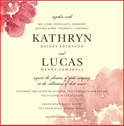 19 best wedding invitation postcard images on pinterest wedding signature ecru wedding invitations blooming watercolor by wedding paper divas filmwisefo Choice Image