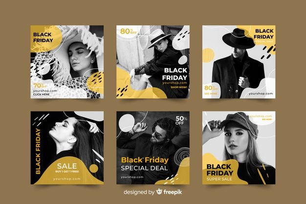 Download Black Friday Instagram Post Collection For Free In 2020 Black Friday Illustration Vector Free Instagram Design