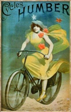 Humbert Cycles Advertisement, 1890 - Cheret