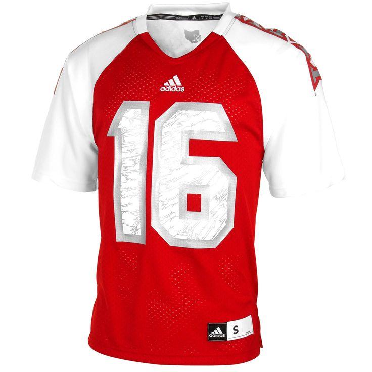 No. 16 Miami University RedHawks adidas Replica Football Jersey – Red - $64.99
