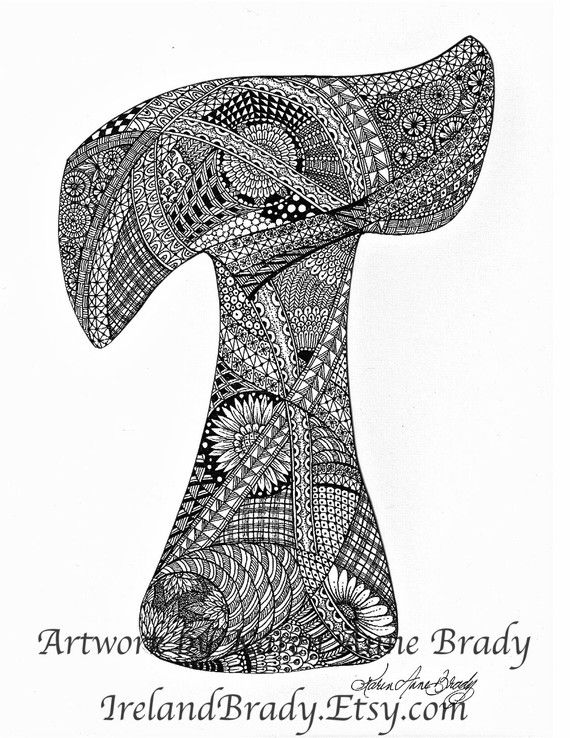 Coloring Pages And Or Coloring Digital Stamps Zentangle Letters